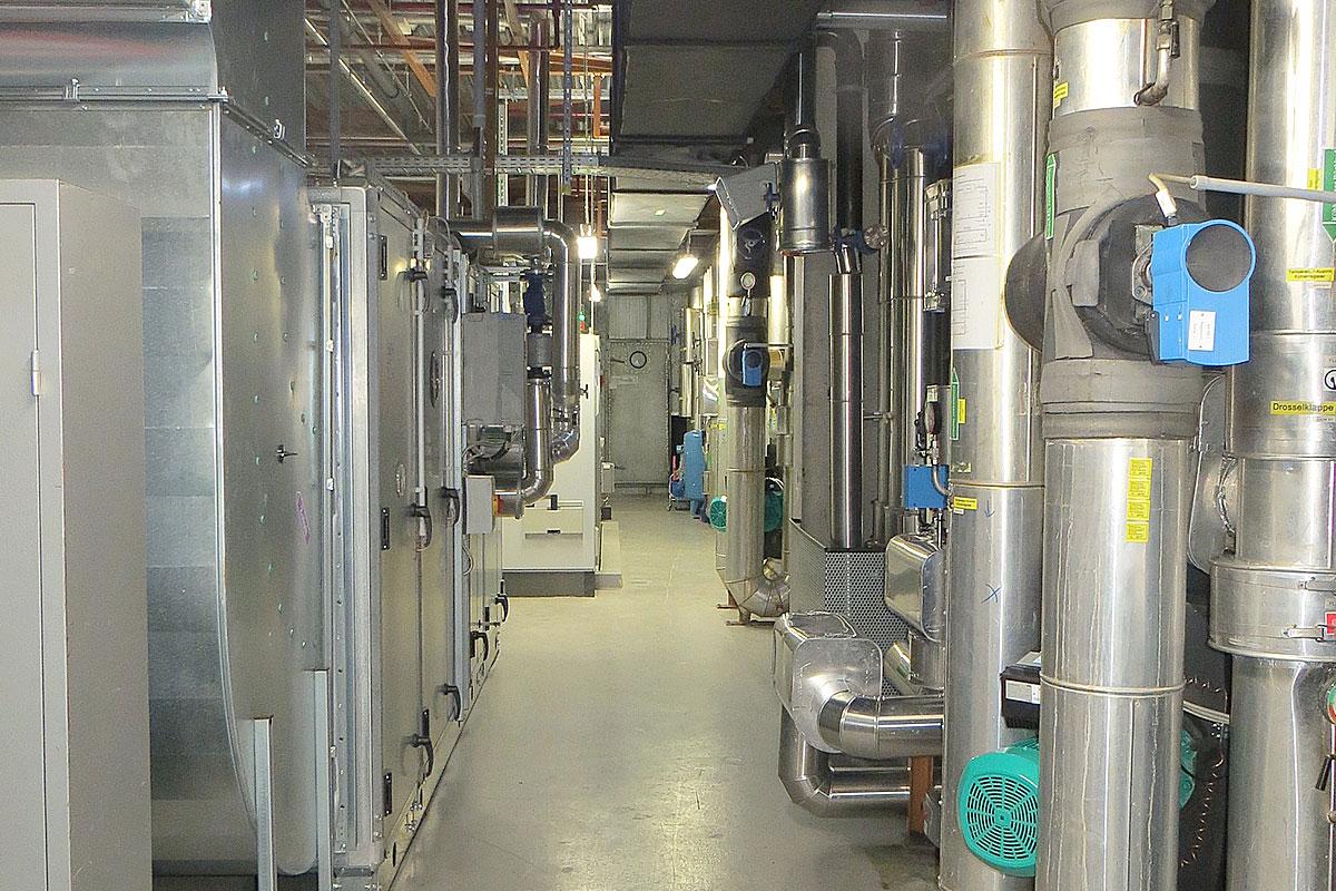 Klimaanlage Versorgungsbereich